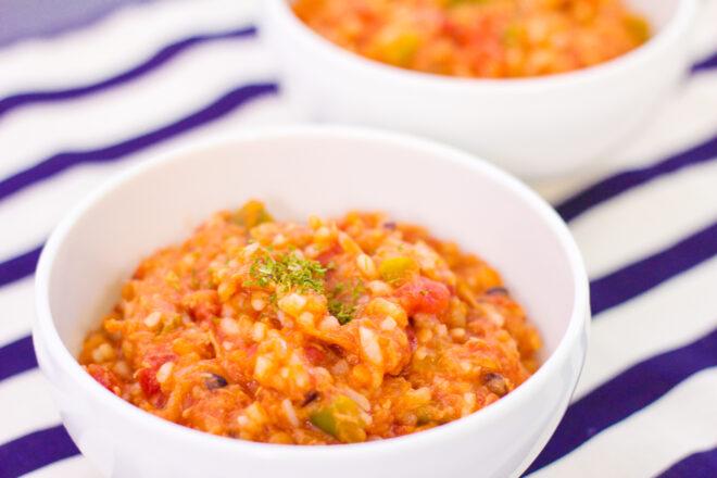 マンナン雑穀のトマトリゾット